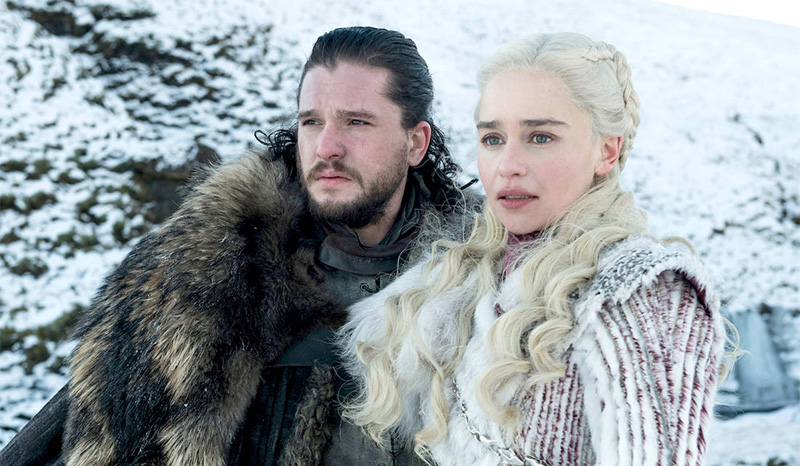 Jon and Daenerys from Game of Thrones - no copyright infringement is intended